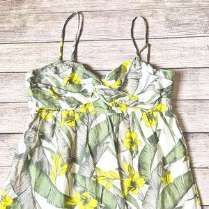 NWOT Banana Republic Leaf Print Dress